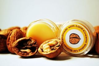 Homemade Creamy Walnut Lip Butter. get some of that nutty goodness <3 Yum.