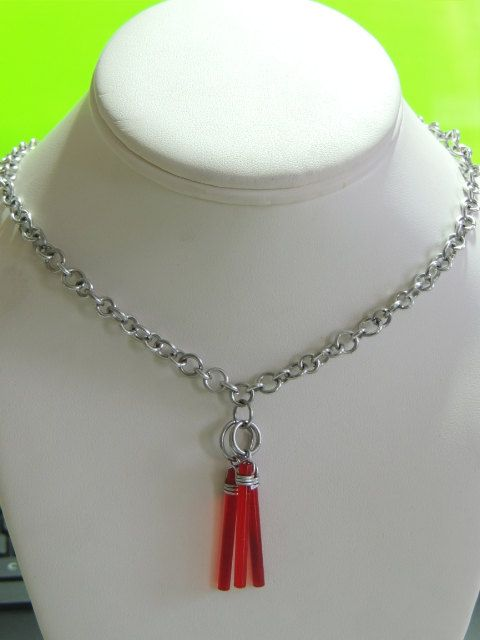 Red Translucent Lego Necklace by StarTideDesigns on Etsy, $35.00