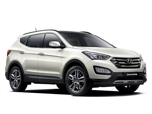 Hyundai Santa Fe ( white ) my dream car