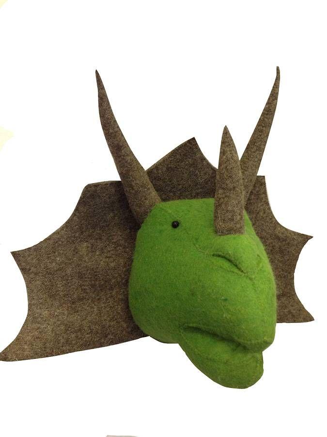 Felt Dinosaur Head