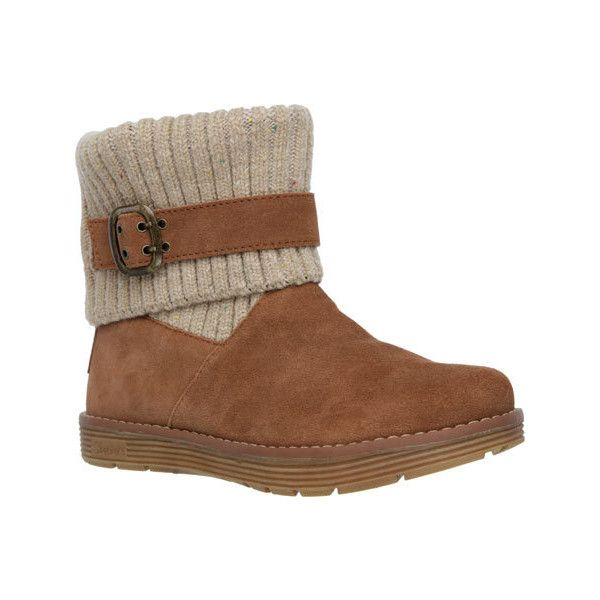 106c32d260 Women s Skechers Adorbs Sweater Boot - Chestnut Casual (94 CAD) ❤ liked on  Polyvore featuring shoes