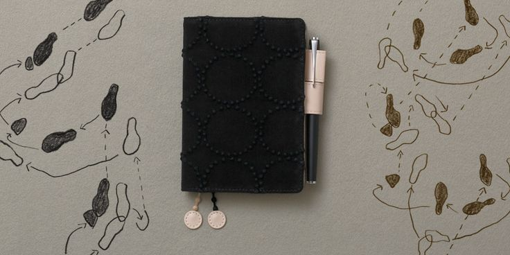 Watched a fascinating video about these planners. Most 2014 covers seem to be sold out. [mina perhonen tambourine [black] - Hobonichi Planner 2014]