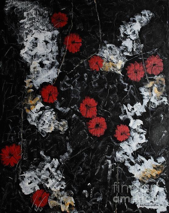 Poppy Jasper Stone painting by Barbara Griffin.