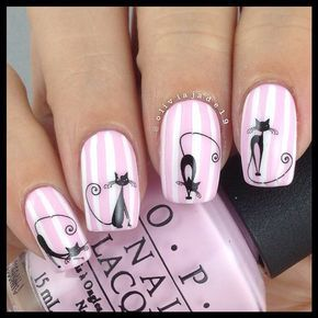 Polishes: OPI Mod About You, Simply Spoiled Beauty white nail art pen Decals: Born Pretty Store
