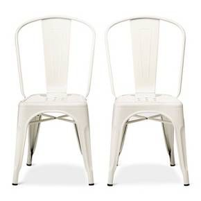 carlisle high back metal dining chair set of 2 target