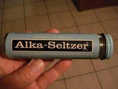 Glass Tube Alka-Seltzer Bottles. Remember these? Looks different now!!!