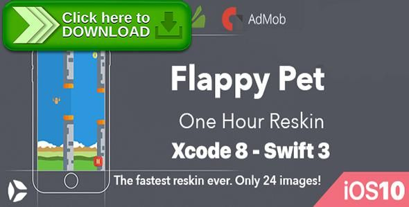 [ThemeForest]Free nulled download Flappy Pet - One Hour Reskin - iOS10 and Swift 3 ready from http://zippyfile.download/f.php?id=43761 Tags: ecommerce, addicting, admob, app template, best code, cheap, fastest reskin, in app purchases, iOS 10, ipad pro, iphone7, iphone7 plus, level system, no ads, rebeloper, swift3