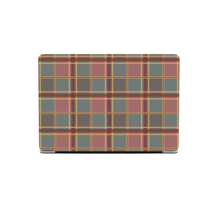 Luxury Brown Tartan MacBook Case