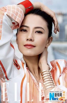 """Gao Yuanyuan Covers """"Elle""""  source: xinhua"""