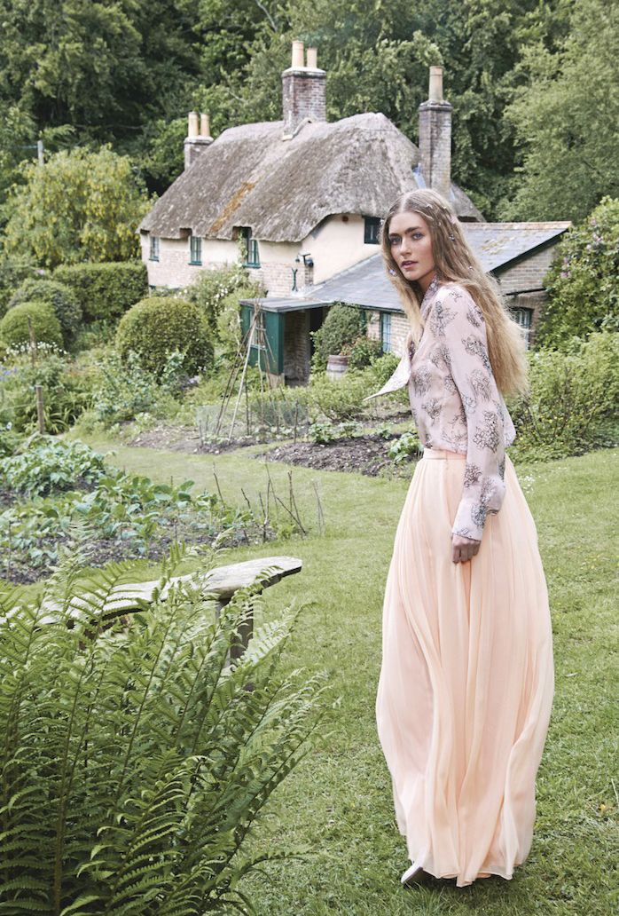 """Eve Delf in """"Far From The Madding Crowd"""" by Perry Ogden for The Stylist Magazine, #179 at Hardy's Cottage in Dorset"""