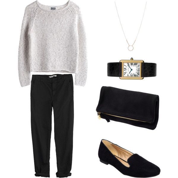 """Untitled #131"" by keelyhenesey on Polyvore ....black/white and updated classic!"