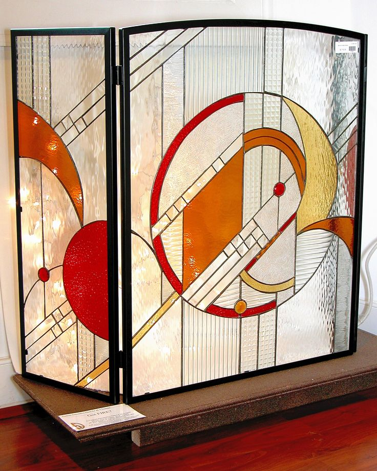 This is one of our leaded glass designs, Spaces @ Decor.  #stainedglass #fireplace #screen #artsy #custom #homedecor #decor #beautiful #pattern #stylish