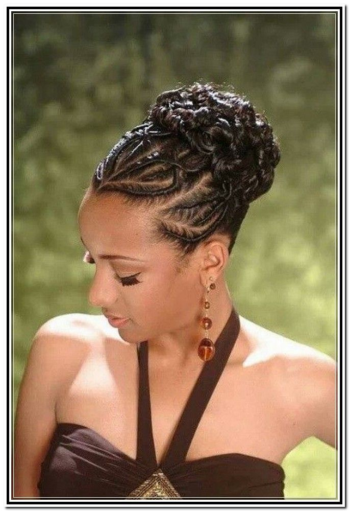 Natural Flat Twist Updo Hairstyles