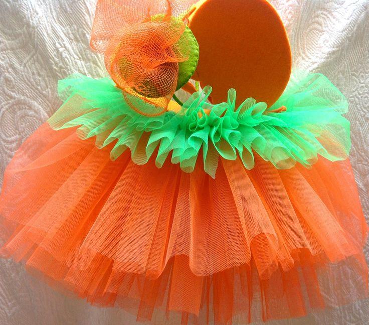 Tutorial de Disfraz de calabaza con Tutú para Halloween o Carnaval.