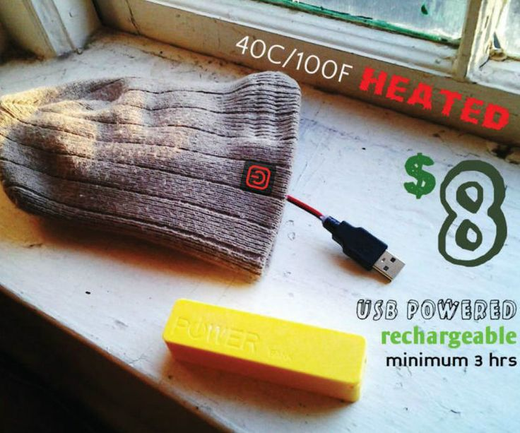 hello world,.today i would like to share with you a project anybody can make. winter is already here, are you staying warm.?making heated clothing is as easy as sewing a piece of cloth on top of another piece of cloth, just like regular clothing.an $8 heated beanie, includes in price a rechargeable battery. it will reach upto 40C/100F for minimum 3hrs with the usb powerbank. or constantly on with any usb port - your laptop, a printer, tv, solar panel, phone charger, you can find a usb port…