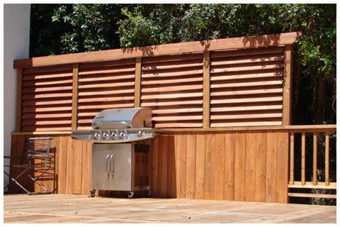Creative DIY Fence Outdoor Project. Louvered Hardward: Privacy Wall More
