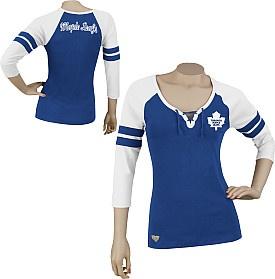 Reebok Toronto Maple Leafs Women's 3/4 Sleeve Rib Henley  $34.99 CAD