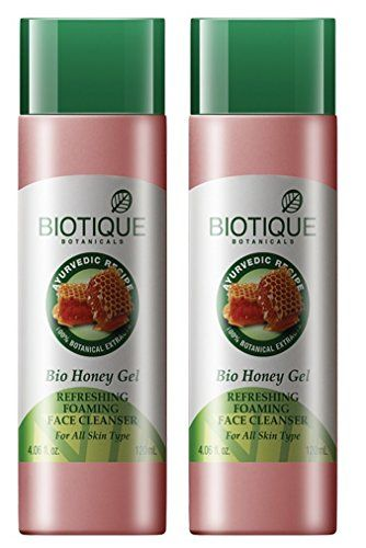 Biotique Bio Honey Gel Refreshing Foaming Face Cleanser 120ml  2 pk -- Be sure to check out this awesome product. (Note:Amazon affiliate link)