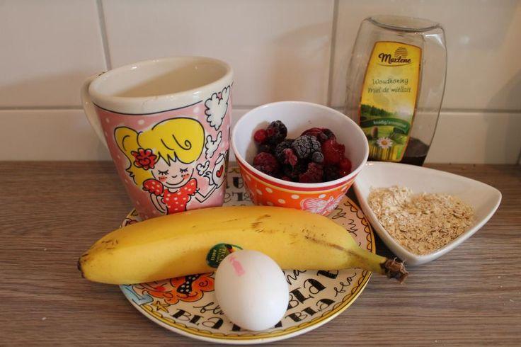 Kelly Caresse | Gezond ontbijt: Healthy cake in een mok recept