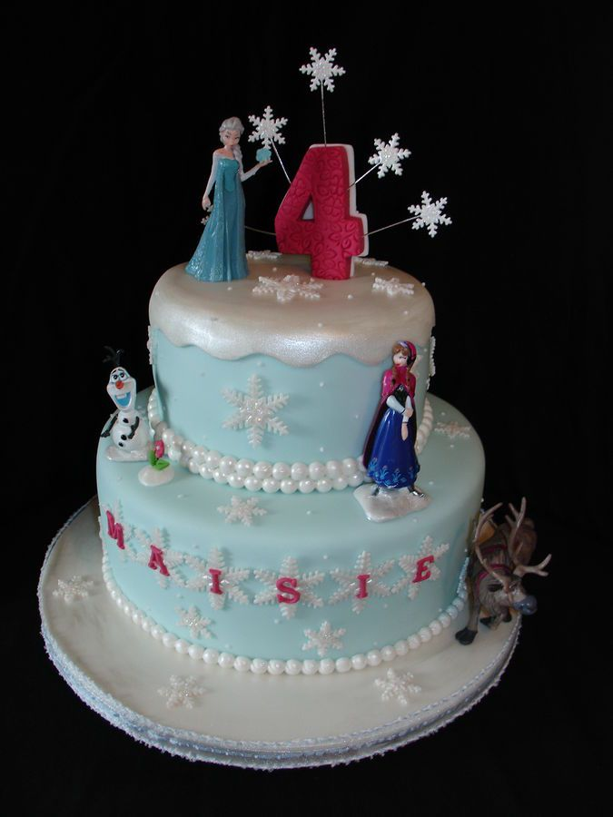 (June 2014) This is my 2nd Frozen Themed Cake. The Customer supplied the figures and I worked around them. Hope you like it!! xMCx