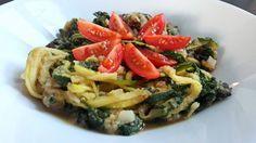 Spaghetti cukiniowe z szpinakiem - Dieta dr Dąbrowskiej | dieta warzywna efekty po miesiącu | dieta warzywno owocowa | oczyszczająca dieta