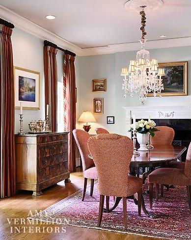 Amy Vermillion Interiors Charlotte NC Elegant Dining RoomFormal