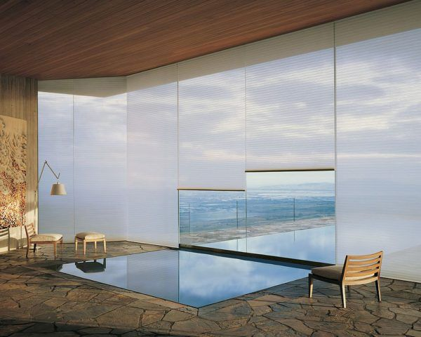 Awesome meditation and reflection room with Honeycomb Shades