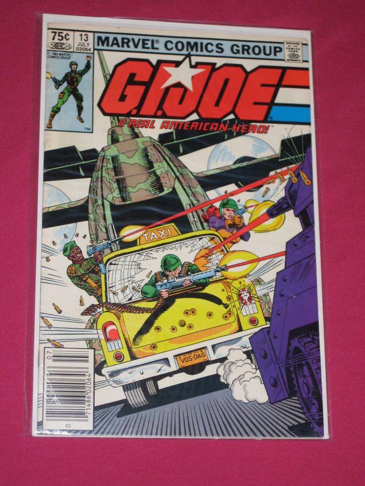 G.I. Joe #13 ARAH Marvel Comic 1983 Snake Eyes, Kwinn Key.. 1st app of Torpedo | eBay