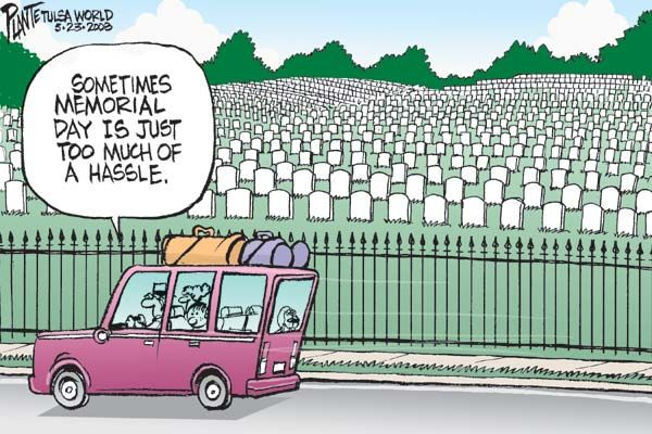 memorial day bbq cartoon