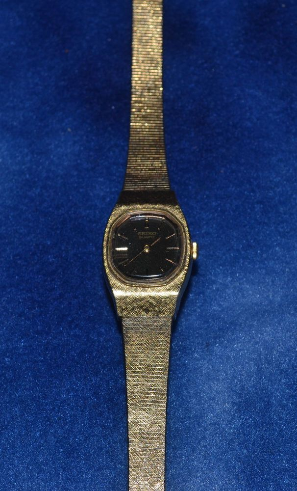 VINTAGE SEIKO GOLD TONE WOMEN'S QUARTZ WATCH JAPAN FOR PARTS OR REPAIR