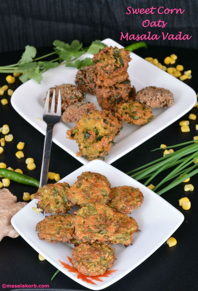 Perfect healthy snack prepared with sweet corn, oats and spices to tantalize your taste buds and prepare you for a magical ride to the main course. Do not miss out the baked version!!