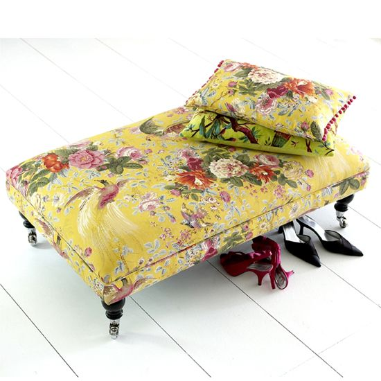 Give your  COFFEE TABLE/STOOL an elegant look & new purpose by covering  with beautiful fabric
