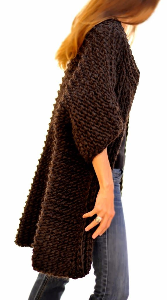Knit 1 LA: The Reluctant Hooker  Swing Coat in Tunisian Crochet.  PATTERN TO COME SOON.