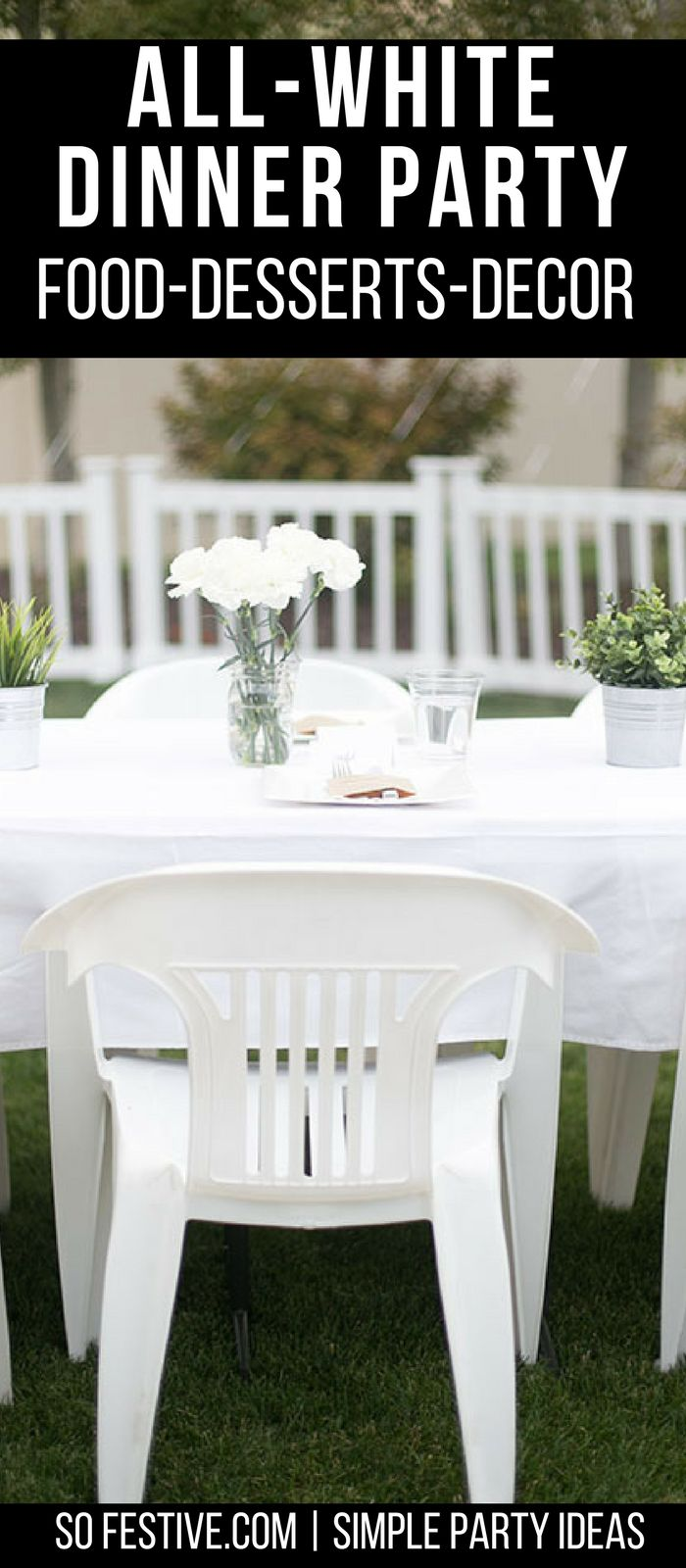 All White Dinner Party Diner En Blanc Ideas