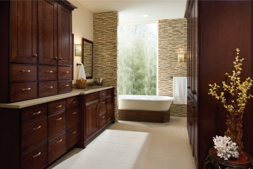 Really like the Cherry Bath CabinetsBathroom Vanities, Bathroom Storage, Bath Cabinets, Bathroom Remodeling, Master Bath, Bathroom Ideas, Traditional Bathroom, Cherries Bath, Bathroom Cabinets