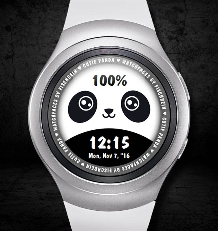 Cutie Panda 24h – Watchfaces by Fischbein