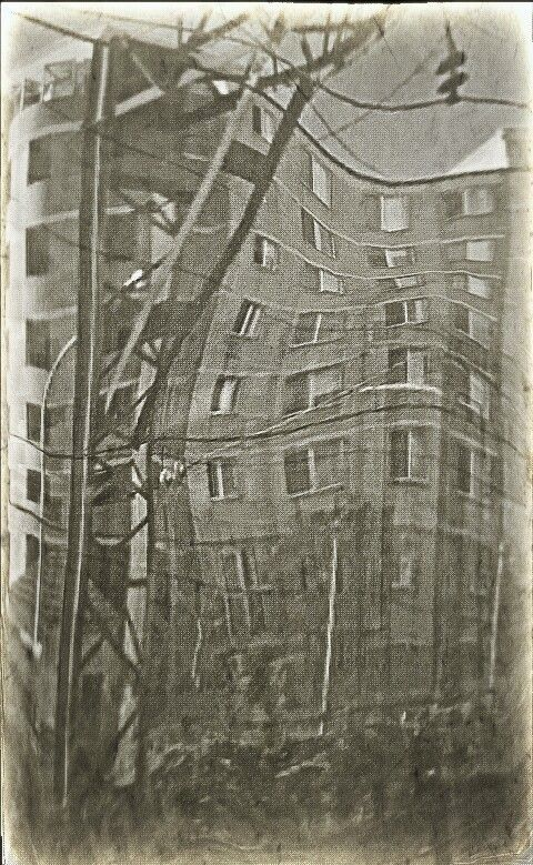 Andrograph: High Rise by ivy jean 2013 http://pinterest.com/ivyjeanarts