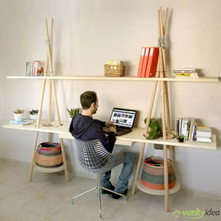 desk shelving design