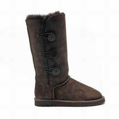UGG Bailey Button Triplet Boots 1873 Chocolate $92.99