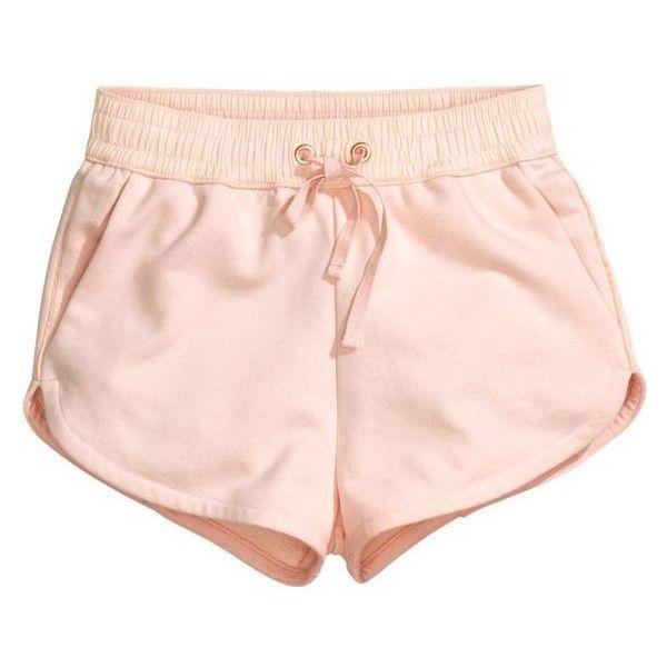 H&M Sweatshirt shorts ❤ liked on Polyvore featuring shorts, hot cotton pants, cotton shorts, hot short shorts, hot pants and micro shorts