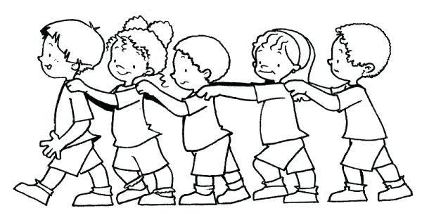 Amigos Para Colorear Imagenes De Dos Amigos Para Colorear Dibujo