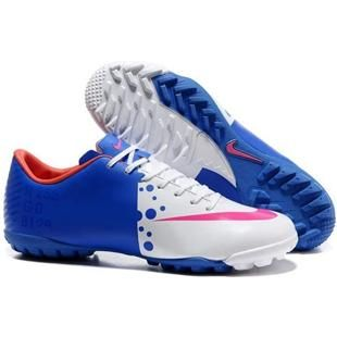 www.asneakers4u.com Nike Mercurial Vapor VIII TF Indoor  White Blue Solar Red Nike Astro Turf Football Cleats