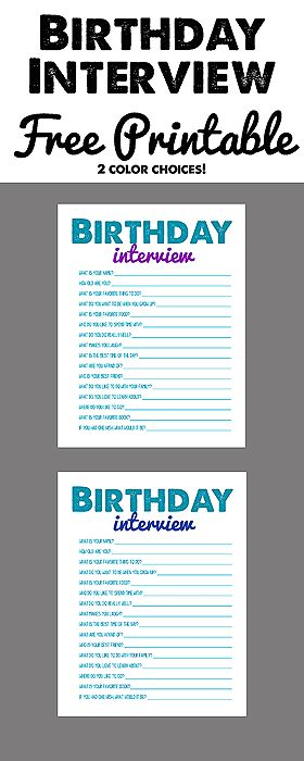 Birthday Interview... A fun family tradition! Free printable! #Birthday #Interview