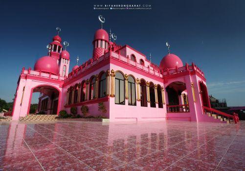 Masjid Dimaukom Pink mecset Datu Szaúd Ampatuan Maguindanao (96 pieces)