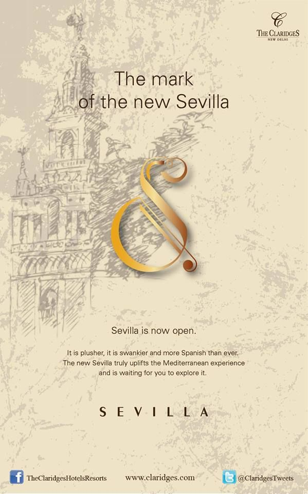 A brand new gaze, but all the tassels that you've come to love! A revamped #Sevilla; the perfect place to revisit memories, with a dash of the new!  #AllNewSevilla now open @ #TheClaridgesNewDelhi