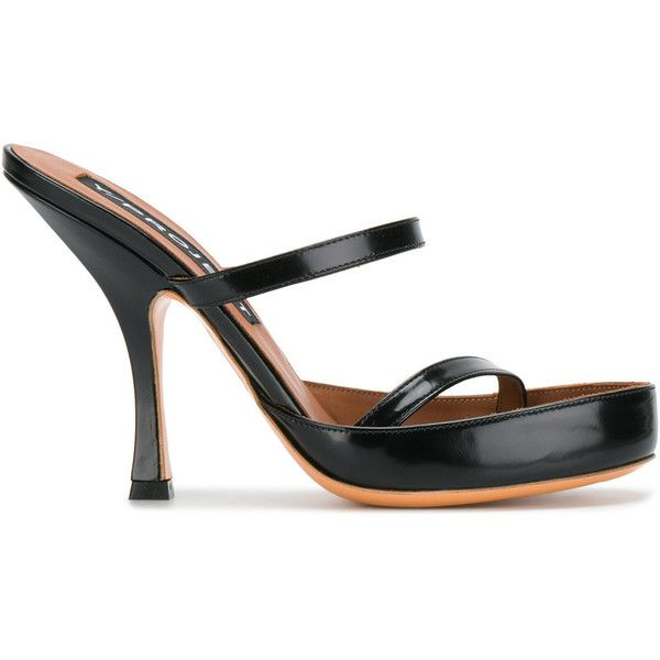 Y / Project mid heel sandals (€700) ❤ liked on Polyvore featuring shoes, sandals, black, mid-heel sandals, heeled sandals, mid-heel shoes, black shoes and backless shoes