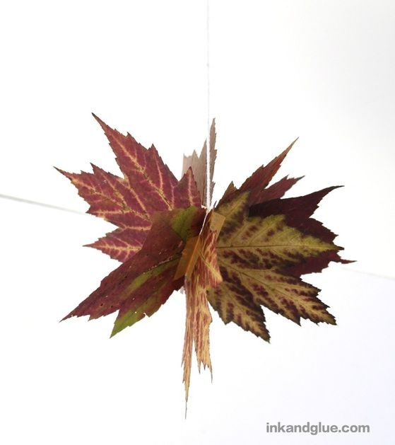 Autumn leaf ball