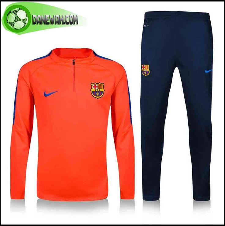 promo magasin Survetement de foot FC Barcelone Orange 2016-2017