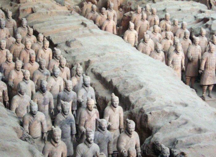 Guerreros Terracota Primer Emperador Qin, Xi'an,China