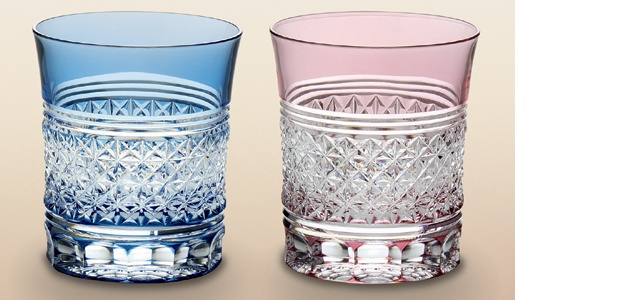 "Japanese ""Edo Kiriko"" Crystal Glasses"